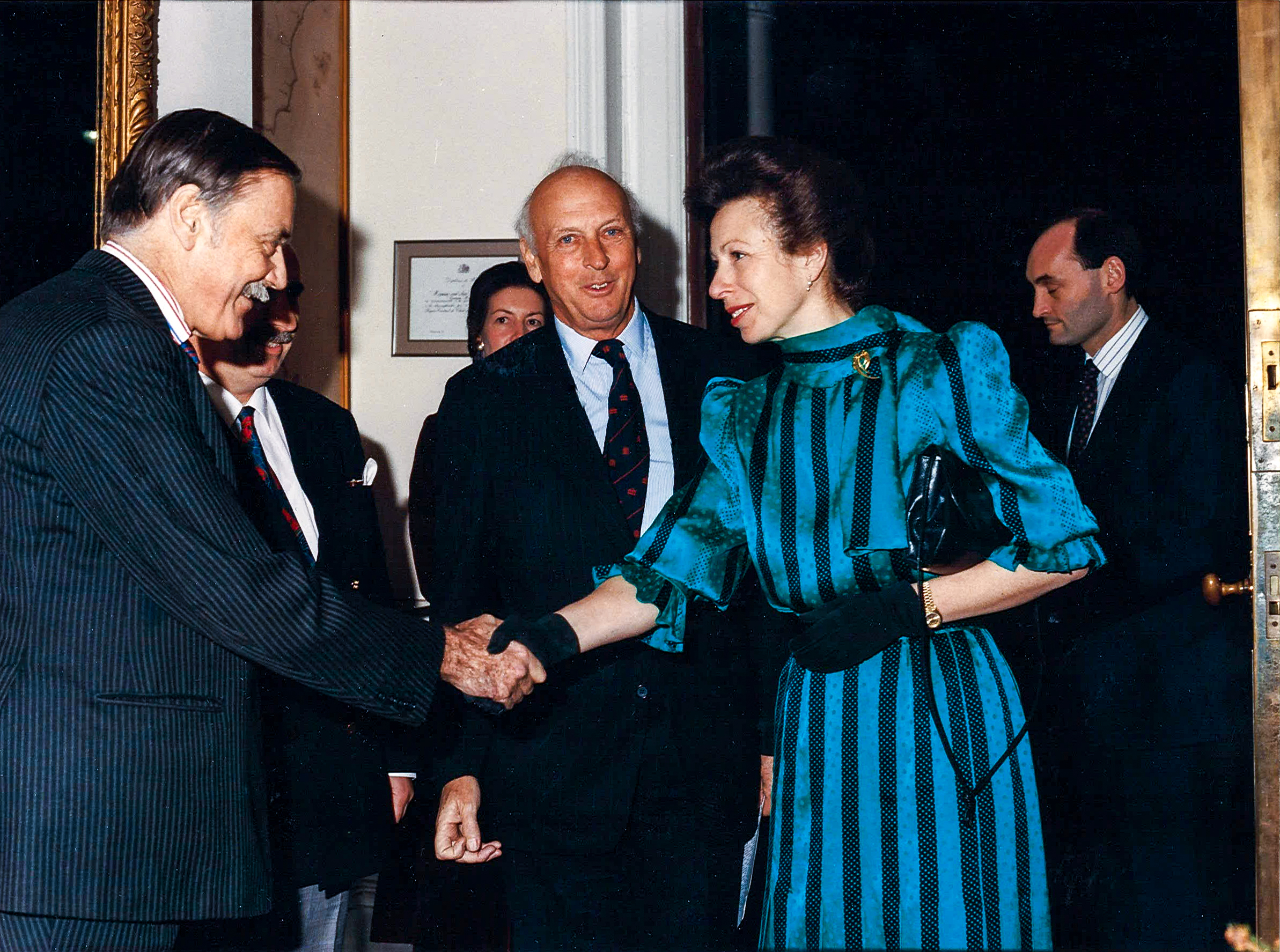 Viscount Montgomery with HRH The Princess Royal and other senior Canning House figures in 1992