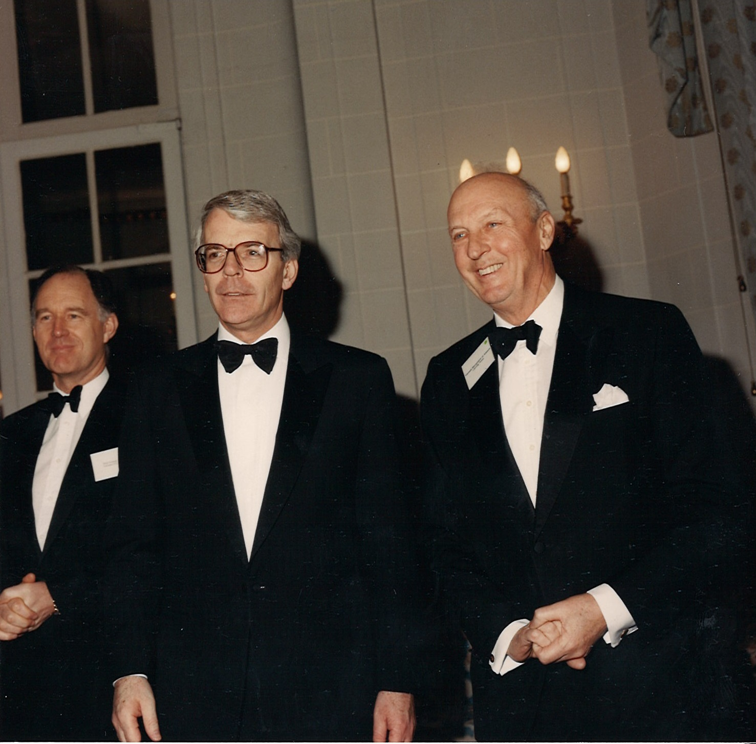 Viscount Montgomery with Sir John Major at Canning House 1994 Gala Dinner